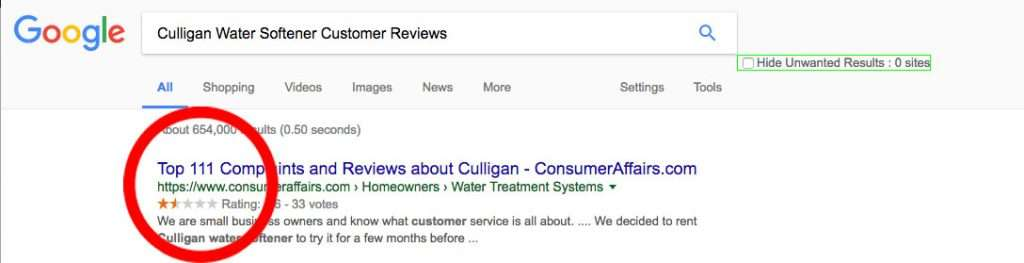 Culligan Water Softener Reviews Consumer Reports