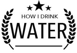 Drink Water Badge Black Text