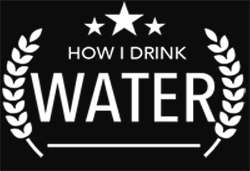Drink Water Badge White Text