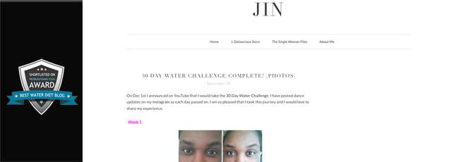 Jersey Is Naked - Water Diet Blog With Pictures