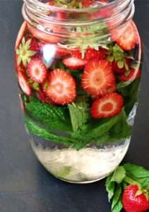 Mint Strawberry Infused Water