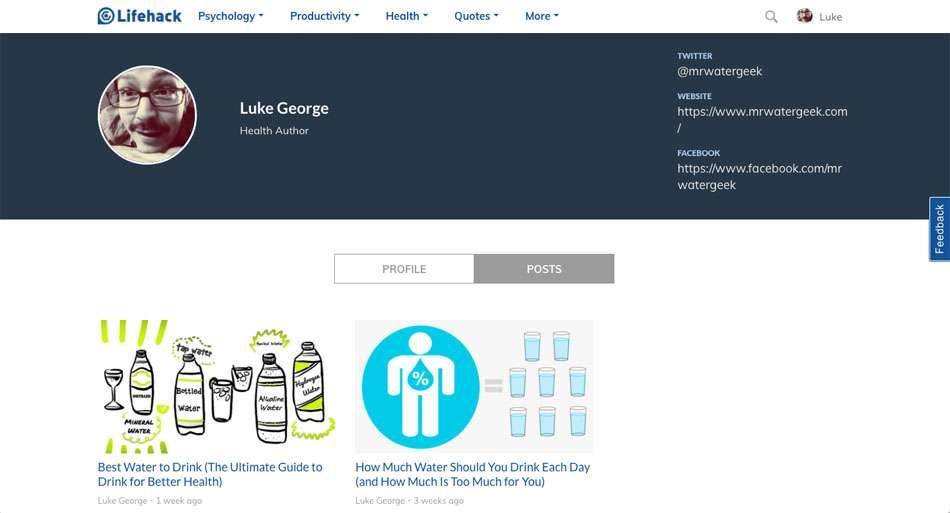 Luke George - MrWaterGeek.com Lifehack Contributor