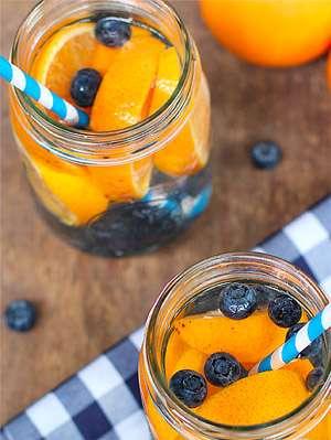 Orange Citrus Blueberry Infused Water 183 Mr Water Geek