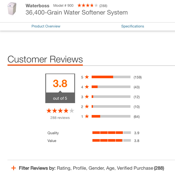 WaterBoss Customer Reviews