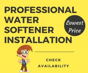 Professional water softener installation