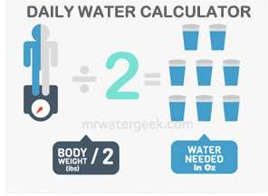 Daily Drink Water Calculator Infographic