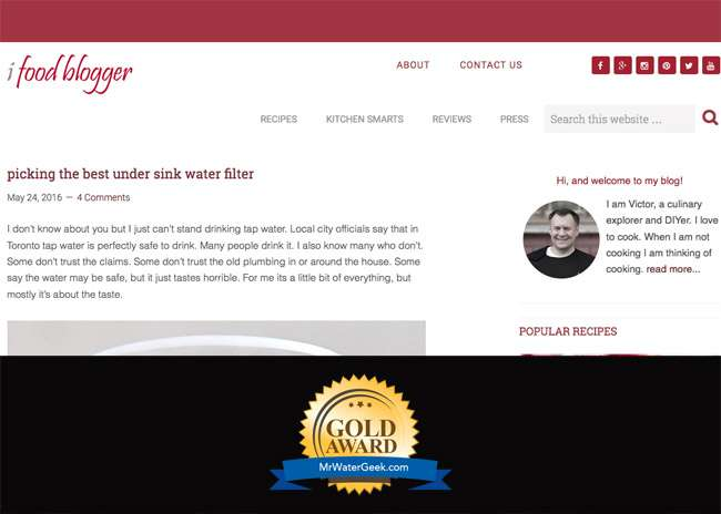 ifood Blogger Best Water Blogs